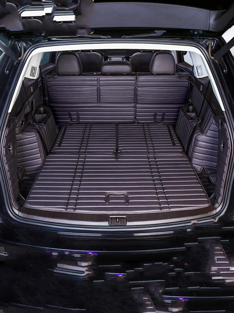 Vladimir Custom Car Trunk Mat For Volkswagen Teramont 2017-2019 Seven Seats Car Accessories Custom Cargo Liner Car Styling