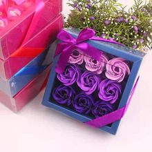 Gift soap flower 9 color boxed rose creative birthday company event promotion gifts wedding gift  valentines day