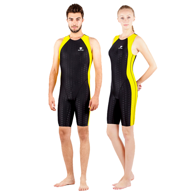 Fanceey 競争ワンピース水着の女性 2019 プラスサイズ水着女性モノキニ水着男性シャークスキンレーシング水泳スーツ  グループ上の スポーツ & エンターテイメント からの ボディスーツ の中 1