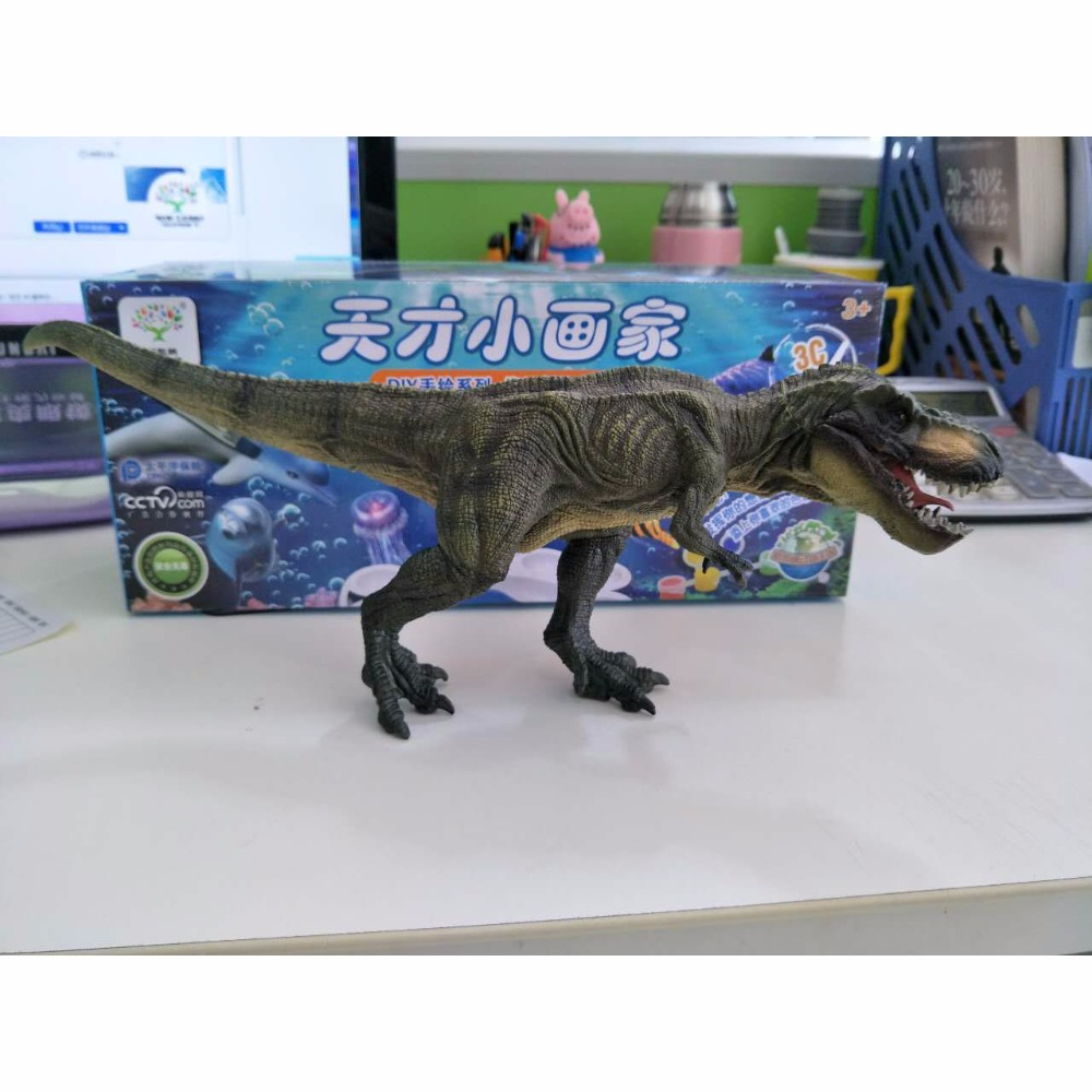 Large solid walking Rex Jurassic dinosaur toy simulation model dinosaur dinosaur world hand ornaments dinosaur walking rex