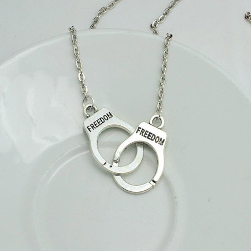 Top New Fashion jewelry Handcuffs choker pendant necklace Women/Girl  CI12