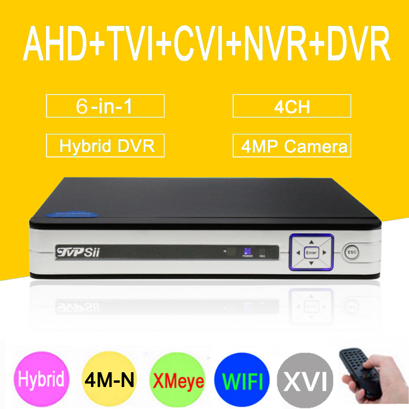 Three in one DVR 4 Channel 4CH 1080P/1080N/960P/ 720P/ 960H  Dahua Case Zhiyuan Chip NVR AHD-NH DVR Free Shipping