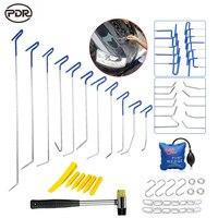 PDR Инструменты Крючки толкателей звона двери град ремонт Paintless Дент Ремонт Инструменты удалить вмятин ручной инструмент набор