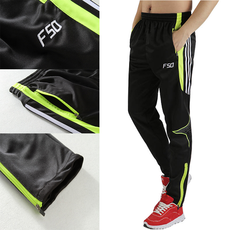 Man's Football Soccer Sport Pants 4 Color Polyester Long Trainning Pants For Children Boys Size XXS-4XL