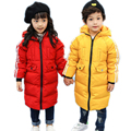children winter jackets for girls boys 2017 new medium long solid kids winter coat thick warm white duck down children coat