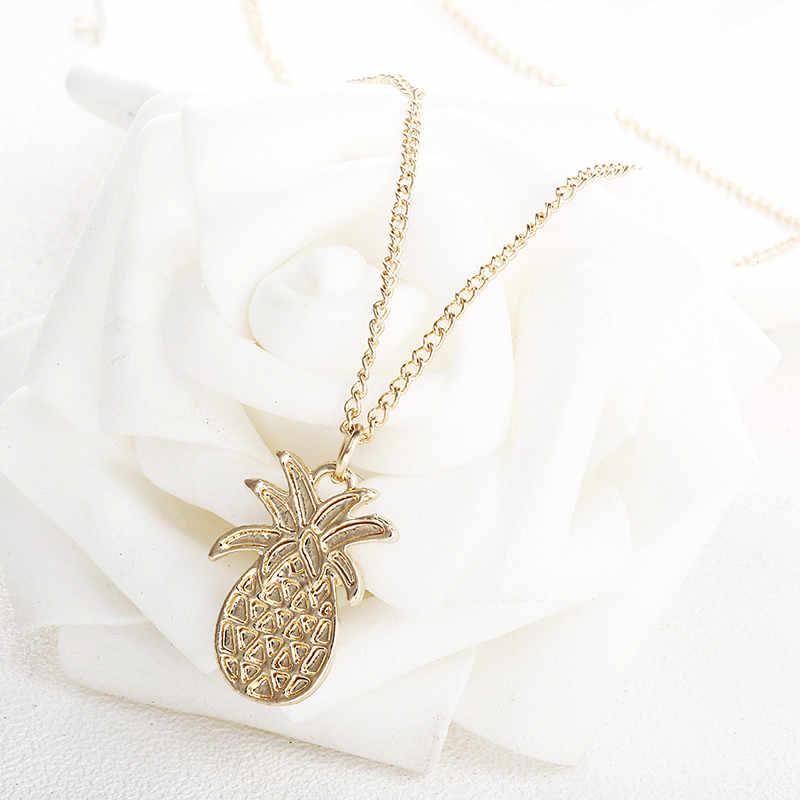 572302c53 Fashion Design Pineapple Pendant Necklace For Women Girl Vintage Fruit Cute  Link Chain Necklace Golden Color