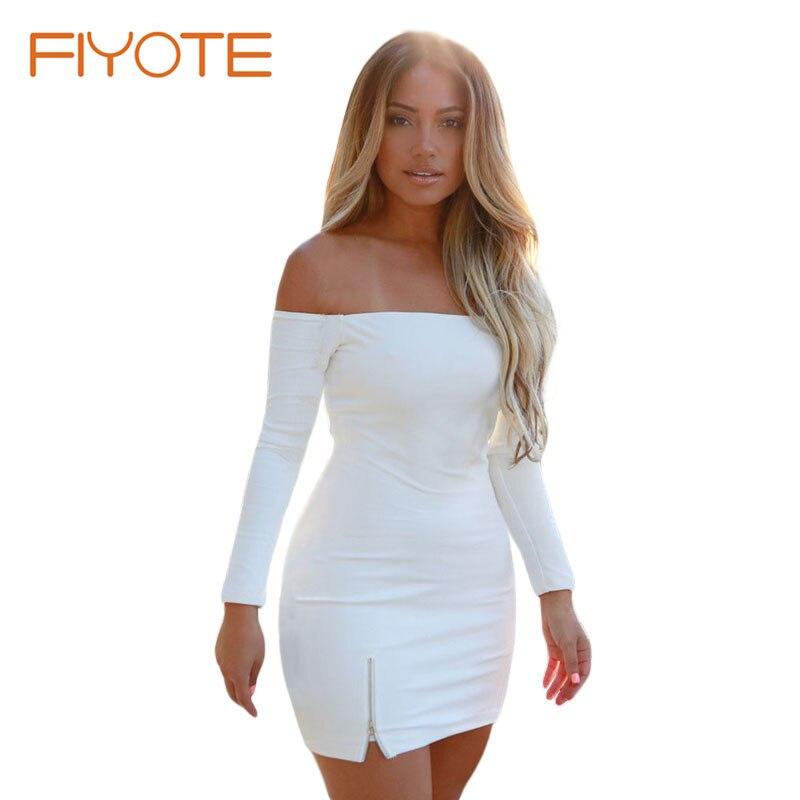 White mini dress two splits