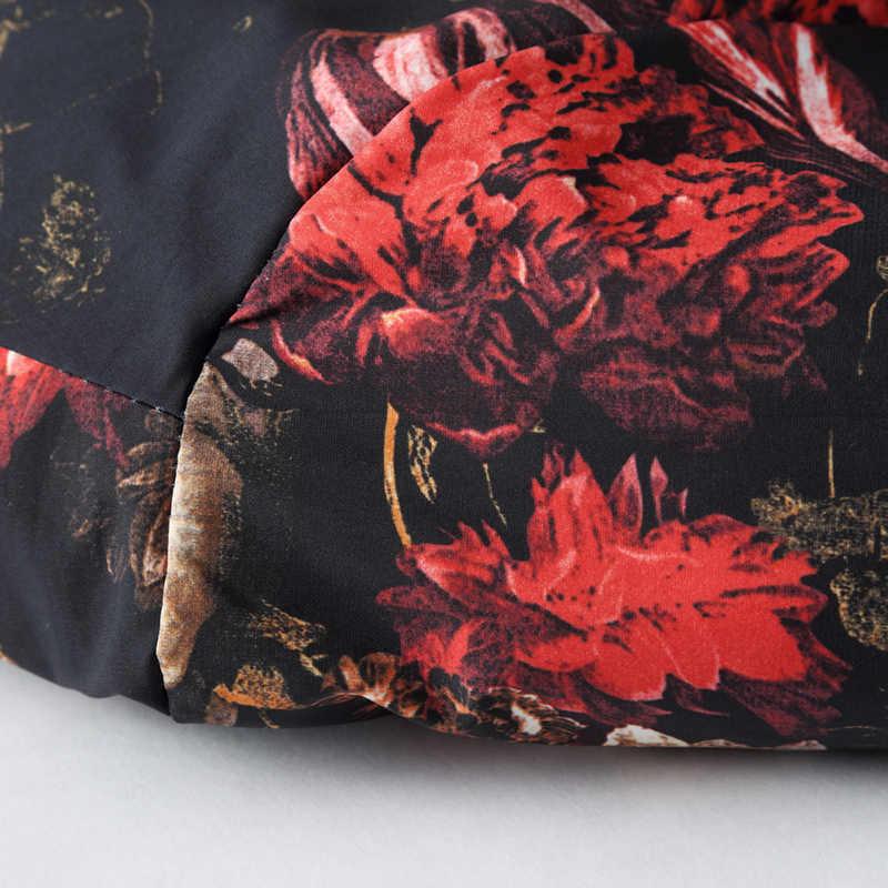 2020 wiosna jesień Bomber Jacket Men Floral wydrukowano moda Slim Fit męskie kurtki okazjonalne z długim rękawem męska wiatrówka płaszcz męski