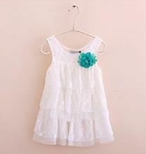1-4 Year Baby Girl Dress Infant Baby Girls Lace Dresses Children Clothing For Summer Kids Princess Flower New