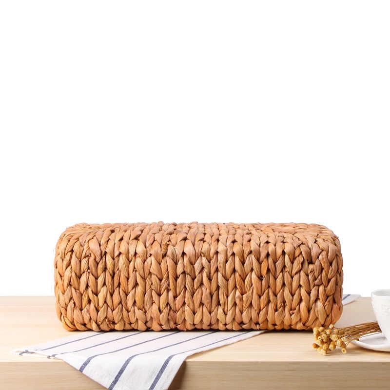 2018 saco de praia sacos de mão totes saco círculo alça superior bao mulheres verão bohemian palha marrom branco de malha bolsa de viagem para a menina