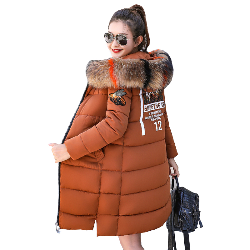 Fashion long   down   jacket 2018 New Warm Winter Duck   Down   Jacket Women   Down     Coat   Hooded Fur Collar Jacket Female Outwear NW747