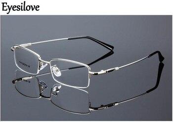 Lunettes myopie finies en métal Eyesilove lunettes myopiques verres de prescription pour hommes lunettes pour femme diopter-0.50 à-6.00