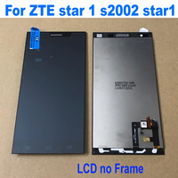 100% Best Working LCD Display Touch Screen Digitizer Assembly + Frame For ZTE star 1 s2002 star1 Star One Phone Repair Parts
