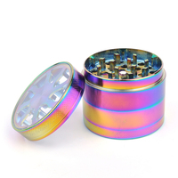 4 Layers Of Colorful Metal Zinc Alloy Tobacco Herbal Grinder Smoking Spices Weed Cutting Machine Cigarette Weed Smoking JL 398JA
