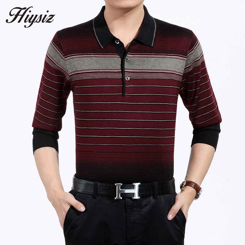 高品質秋カシミヤウールセーター男性有名なブランドの服ビジネスカジュアルストライププルオーバー男性プラスサイズのシャツ 66128
