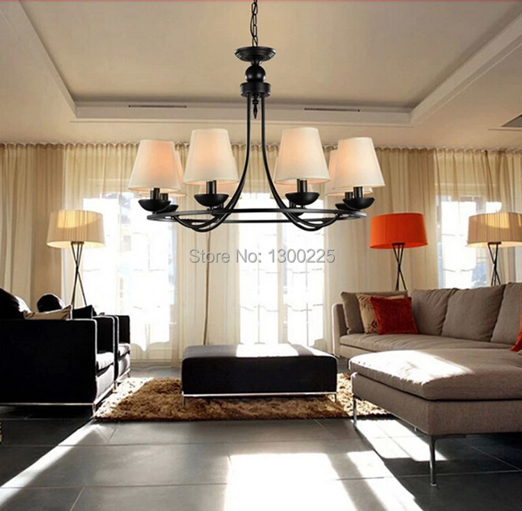 Modern European Style Pendant Lights Countryside Indoor Lighting Living Room Bedroom Dining Fabrics Lamps In From