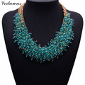 2017 NEW Hot Sale Z Fashion Necklace XG134 Collar Bib Necklaces & Pendants Chunky Crystal Statement Necklace Jewelry For Women