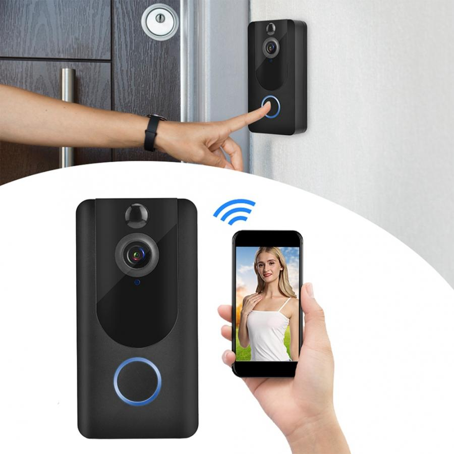 Intelligent Smart Wireless WiFi DoorBell Video Night Vision Camera Record Home Security System waterproof door bell no battery