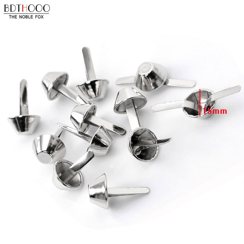 20pcs/lot 15mm Metal Crafts Purse Feet Rivets Studs Pierced For Leather Purse Handbag Fashion Rivets Bag Diy Bottom Screw More Discounts Surprises Luggage & Bags