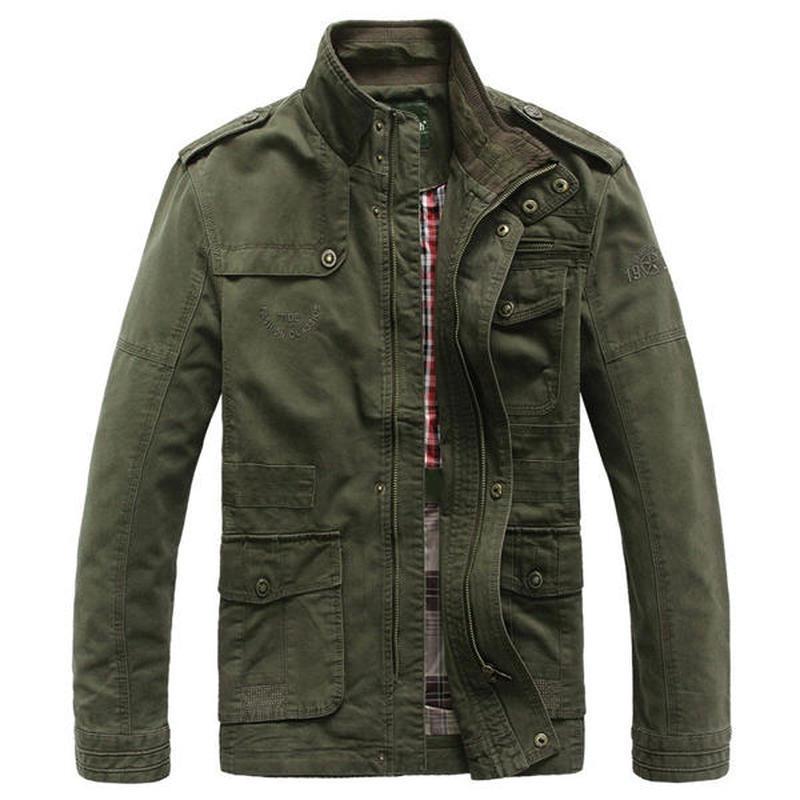 2018 New Military Jacket Men Coat Army Big Size Men's Pilot Jackets Autumn Cotton Blend Zipper Warm Coat Jacket Outwear S-5XL bert pulitzer men s big textured solid sport coat