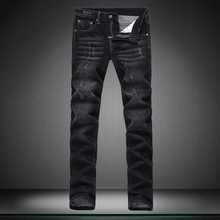 Small straight Show thin man s jeans men Casual pants black straight trousers new boy jeans