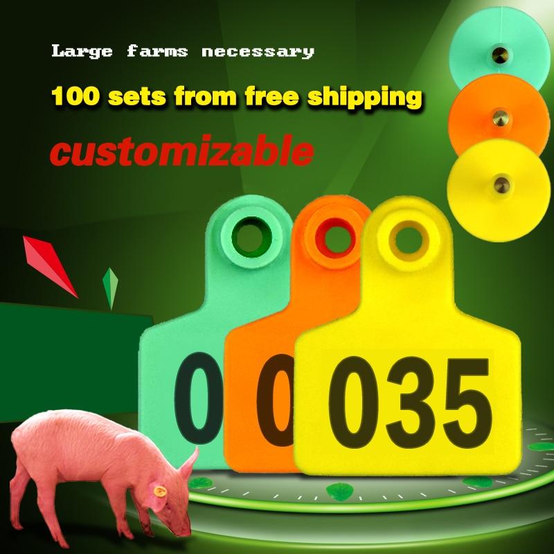 Cattle Vieh Vieh Schwein Ohr Tags Mit Worten Zahlen 001-500 Bauernhof Tier Ohr Laser Rinder Schwein Identifikation Bauernhof werkzeuge