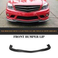 C Class carbon fiber car front lip auto front bumper lip for Mercedes Benz W204 C63 AMG Sedan Coupe Only 2008 2009 2010 2011