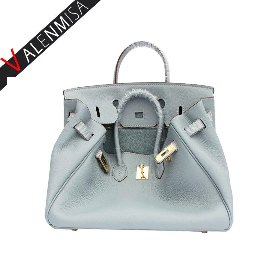 VALENMISA Brand Fashion Genuine Leather Crossbody Bags Vintage Women'S Handbag L