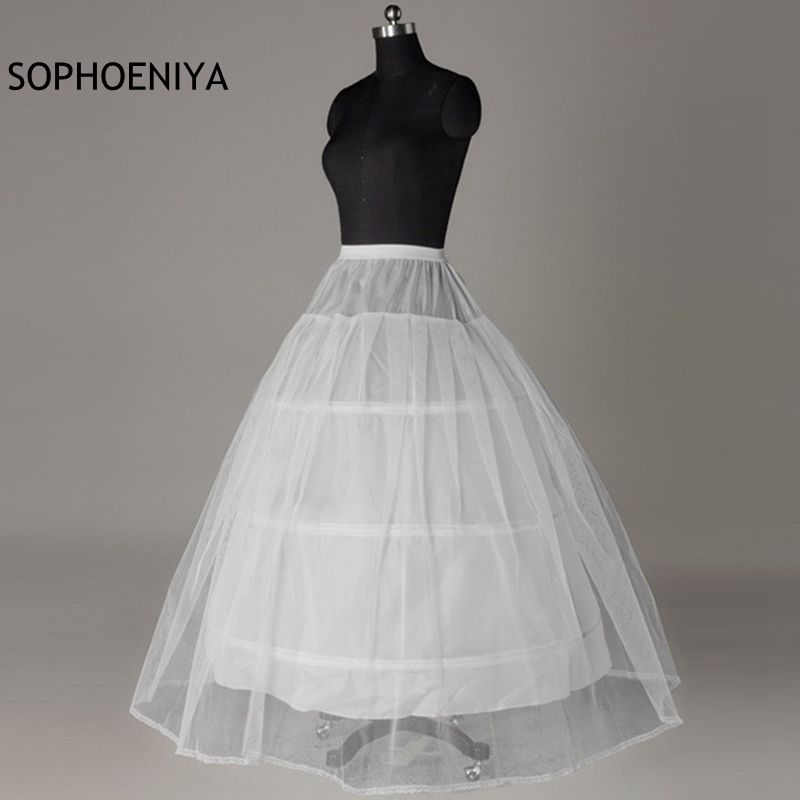 New Arrival White Sexy Petticoat 2020 Cheap Wedding Accessories Jupon Vestido Branco Underskirt 3 Crinoline Jupon Enfant