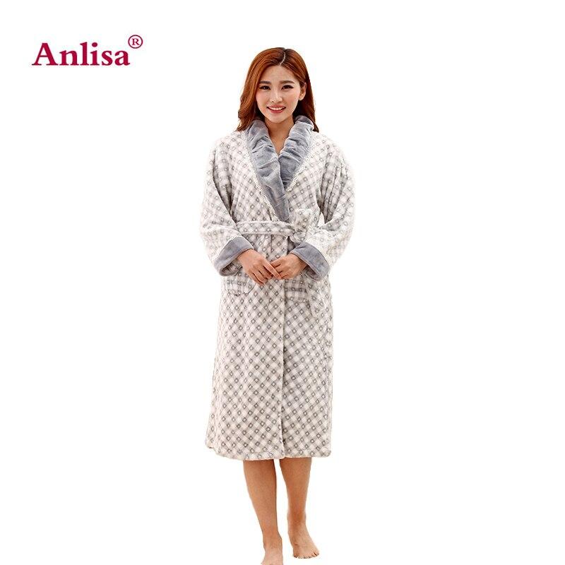 Marque D'hiver Sexy De Vêtements Peignoir Robe Anlisa Femmes Rqdwf6Tqx