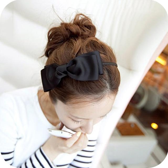 Fashion elegant ribbon big bowknot  pin fabric  headband hair bands free shipping