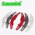 Savaini Nova Marca 2 pcs de Alta Qualidade De Alumínio Mudança Volante Paddle Extensão Shifter Para BMW M3M4M5M6