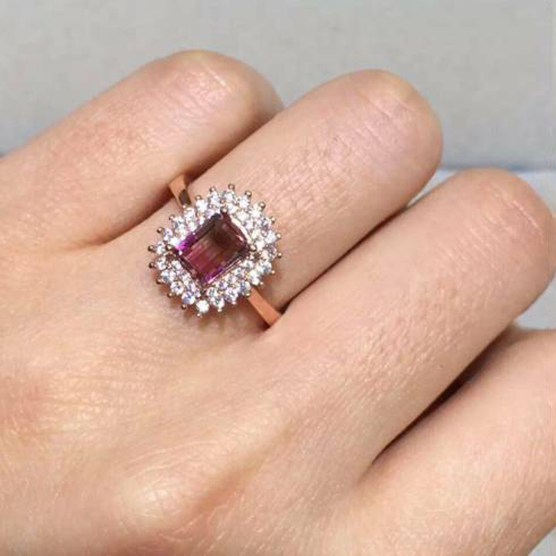 2017 Anillos Qi Xuan_Fashion Jewelry_Pink Tourmaline Elegant Woman Rings_Solid Sliver Fashion Rings_Manufacturer Directly Sales 2017 Anillos Qi Xuan_Fashion Jewelry_Pink Tourmaline Elegant Woman Rings_Solid Sliver Fashion Rings_Manufacturer Directly Sales