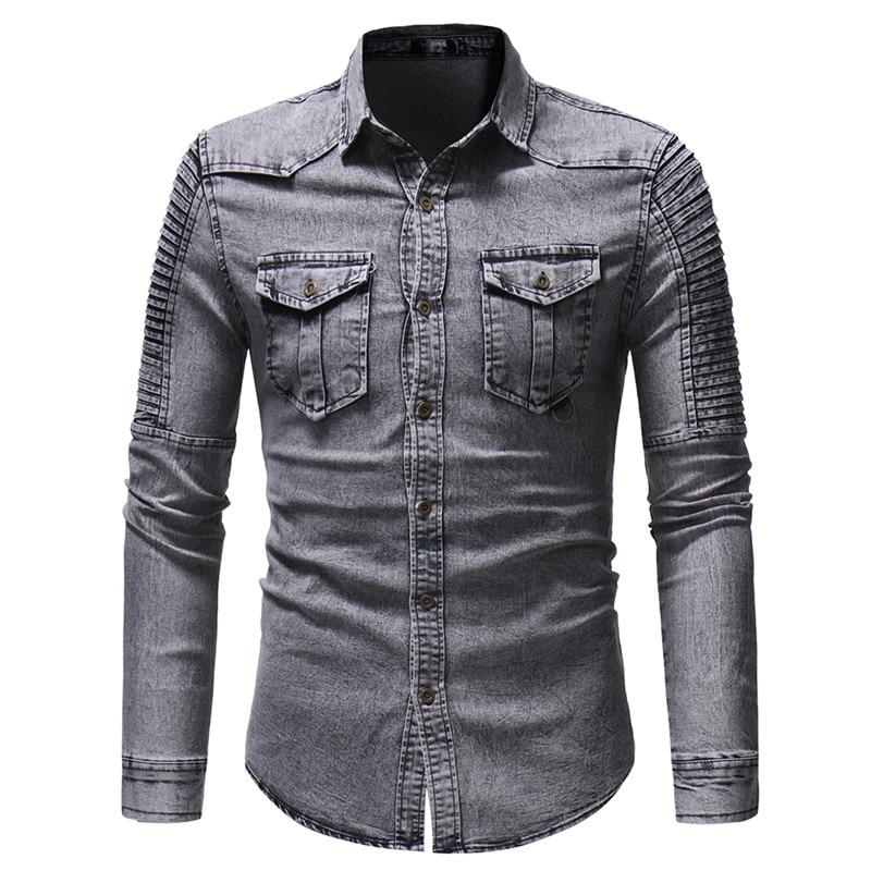 Shirt fashion Casual Shirts Cotton Dress Shirt Mens Clothing 1