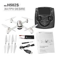 Hubsan X4 H502S Радиоуправляемый Дрон 5.5.8G в реальном времени Трансмиссия FPV системы GPS высота режим RC Quadcopter с 720 P камера полету Дронов RTF