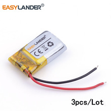 3pcs /Lot 401220 80mAh three.7v lithium Li ion polymer rechargeable battery For MP3 MP4 MP5 Bluetooth headset 3D glasses Good watch