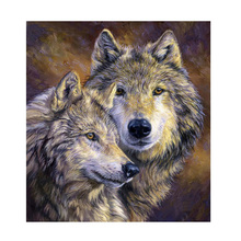 hot deal buy 5d diy diamond painting wolf lovers animal painting embroidery diamond painting cross stitch resin mosaic painting home decor