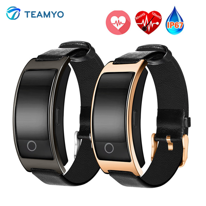TEAMYO CK11S Bande À Puce Montre de La Pression Artérielle en Oxygène du Sang Moniteur de Fréquence Cardiaque Smart Bracelet Fitness Montre IP67 Smart Bracelet