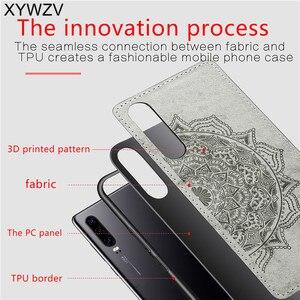 Image 3 - Para Huawei Caso P30 Textura De Pano À Prova de Choque Suave Silicone TPU Phone Case PC Duro Para O Huawei P30 Tampa Traseira Huawei p30 Fundas