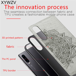 Image 3 - Para Huawei P30 funda a prueba de golpes suave TPU silicona paño textura duro PC teléfono funda para Huawei P30 cubierta trasera Huawei p30 Fundas