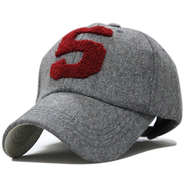 Número 5 moda inverno manter aquecido cap snapback do boné de beisebol marca chapéu de lã térmica fora masculino osso boné de beisebol primavera