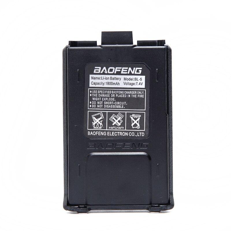Baofeng UV-5R BL-5 1800 mah batterie li-ion pour Baofeng UV-5R UV-5RA BF-F8HP UV-5RE DM-5R Plus Jambon Radio Talkie Walkie UV5R