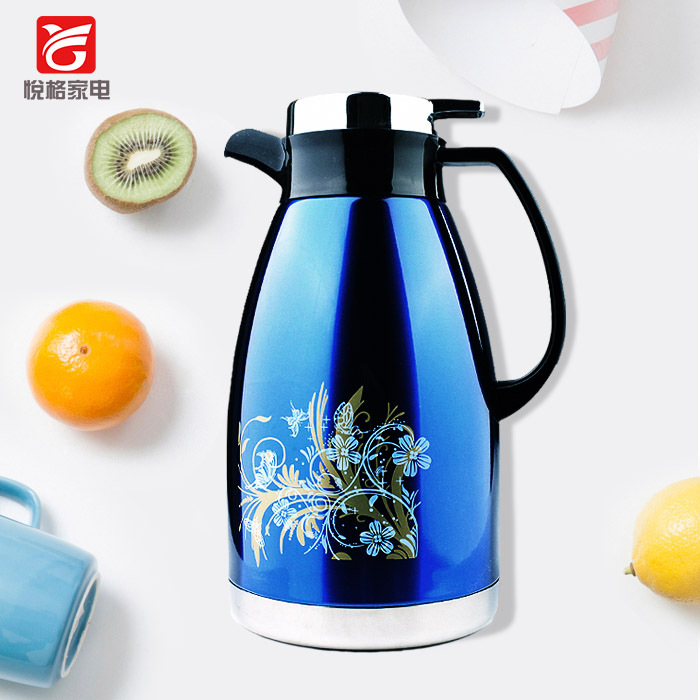 Insulation pot fashion printing flower NO.304 stainless steel vacuum coffee pot thermos  ...