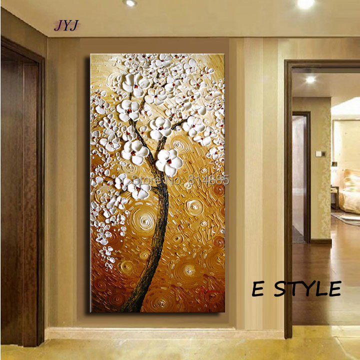 thick textured baroque style modern hand painted palette knife oil painting canvas wall art gift - Baroque Home Decor