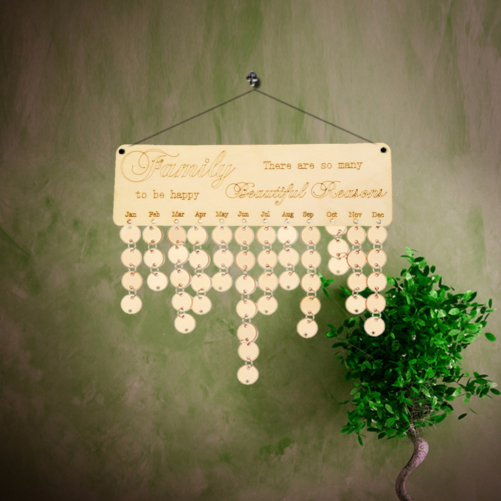 DIY Wooden There are so many beautiful reasons to be Family Calendar Anniversary Board Sign Special Dates Planner