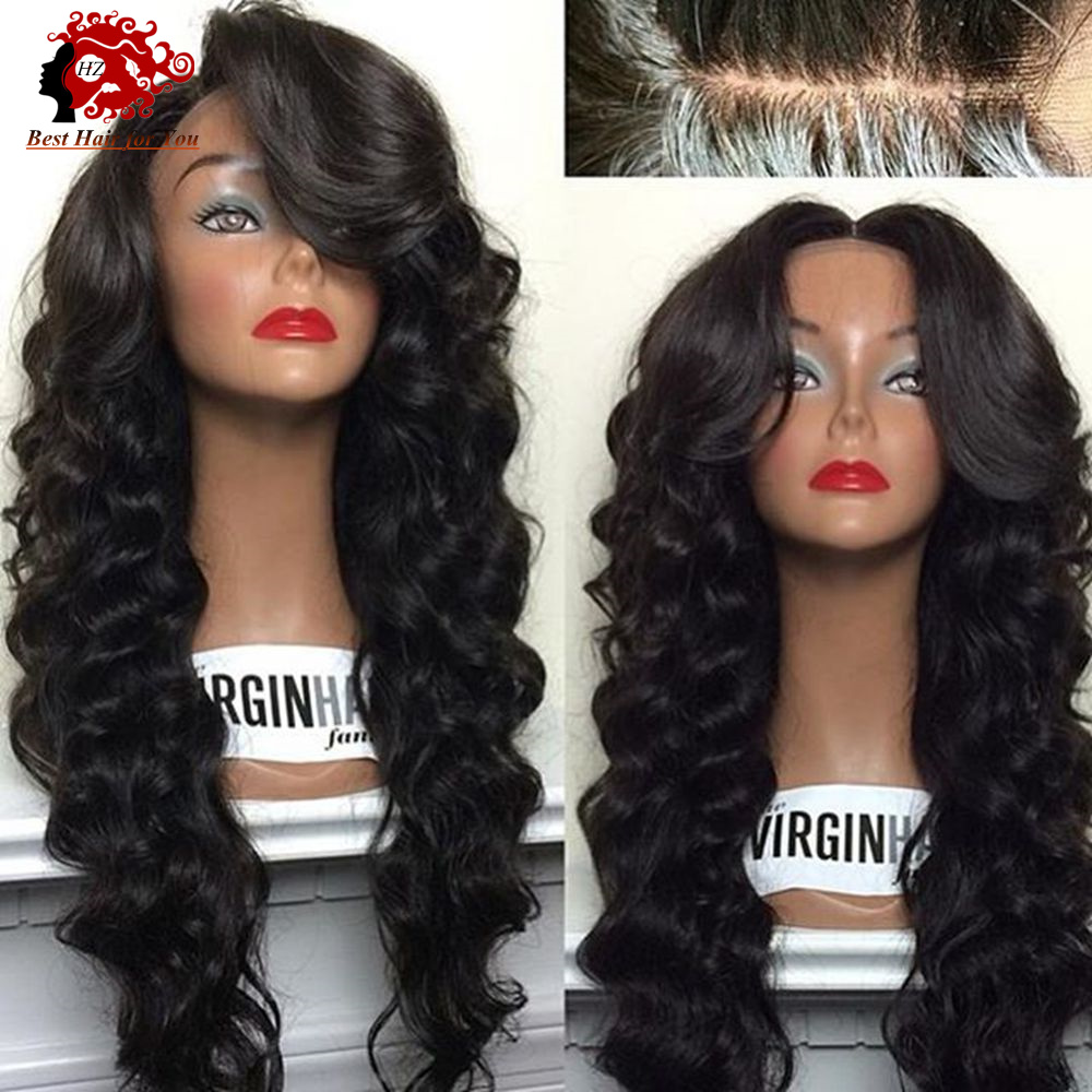 Malaysian Loose Wavy Style Human Hair Glueless Full Lace
