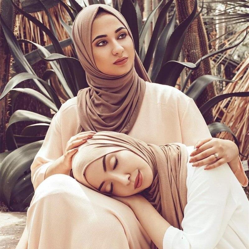10pcs/lot Hi-Q elastic jersey viscose head wraps plain solid muslim hijab women scarf shawls fashion bandana fast shipping