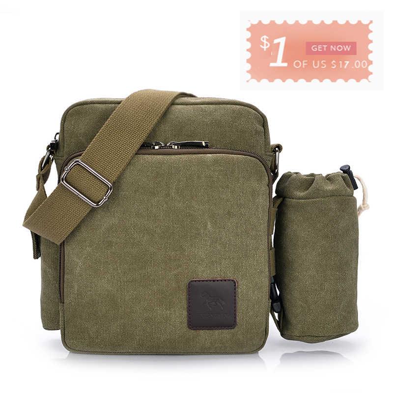 86a55b2a554e ... Универсальные повседневные сумки-мессенджеры мужские парусиновые сумки  для отдыха мужские сумки на плечо винтажные маленькие ...