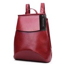 Women Vintage bolsos Women Leather Backpack Female Bag backpack waterproof schoolbags for Teenager Girls bolsos mochila mujer