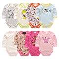 Bebê recém-nascido roupas 100% de algodão macacão de bebê menino roupas de menina longo-sleeved traje macacão novo nascidos